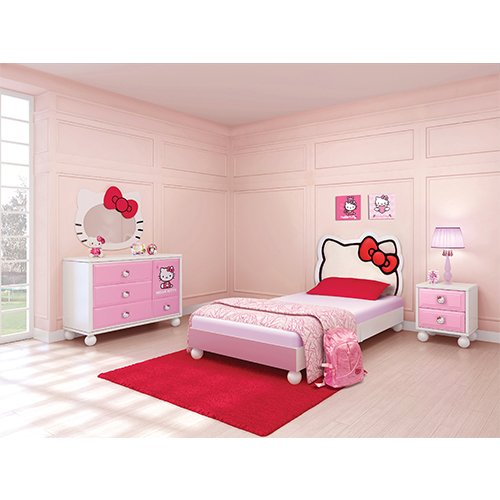Colors Of Pink And White Complement Each Other Perfectly. You Can Also Buy  Just The Twin Bed Separately Here. Hello Kitty Bedroom Set