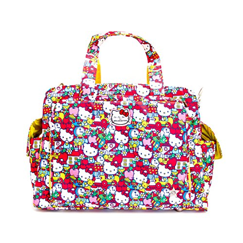 "b06c50e45 It also features insulated bottle pockets. We love the super vibrant ""Tick  Tock"" style. This Hello Kitty baby bag is machine washable."