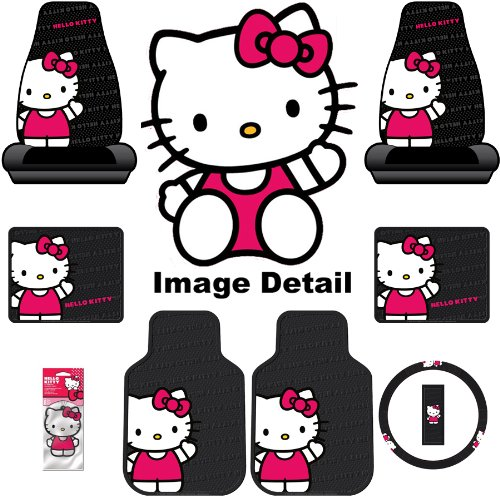 Hello Kitty 8-PC Waving Auto Accessories Interior Kit