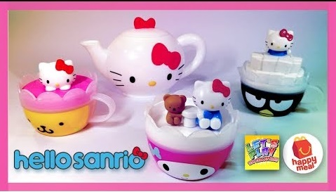 McDonalds Happy Meal Now With Hello Kitty Toys - We Love Kitty